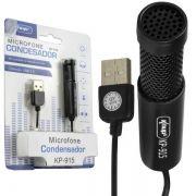Microfone Condensador para Gravação no PC Mesa KP-915 - Knup