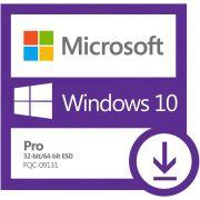 Microsoft 10 Pro 32/64 Bits ESD FQC-09131 Digital para Download - Windows