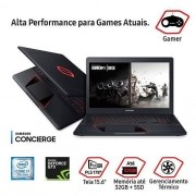 Notebook Gaming Odyssey Intel Core i7 8GB (GeForce GTX 1050 de 4GB) NP800G5M-XG2BR 1TB Tela LED Full HD 15,6 Windows 10 Preto - Samsung