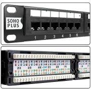 Patch Panel CAT5E T568A/B 24 Portas Rohs 35050401 (17236) - Soho Plus