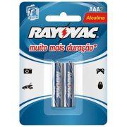 Pilha Alcalina AAA (LR03 - Palito) Cartela com 2 unidades - Rayovac
