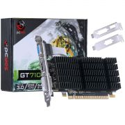 Placa de Vídeo Geforce 710 2GB DDR3 64Bits Kit low profile PJ7106402D3LP - Pcyes