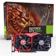 PLACA DE VÍDEO GeForce GTX 1050 Ti 4GB GDDR5 128bits G-C1050Ti 4G-V - Coloful