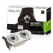 Placa de Vídeo GeForce GTX 1050Ti 4GB GDDR5 128 Bits EXOC OC White 50IQH8DVP1WT - Galax