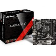 Placa Mãe AM4 A320M-HD DDR4 HDMI/VGA USB 3.1 - Asrock