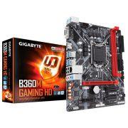 Placa Mãe LGA 1151 B360M GAMING HD DDR4 VGA/HDMI USB 3.0 - Gigabyte