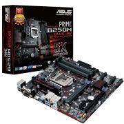 Placa Mãe LGA 1151 Prime B250M-Plus/BR 4x DDR4, Audio Gamer, USB 3.0, VGA/DVI/HDMI - Asus