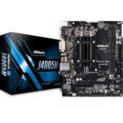 Placa Mãe Micro ATX com Processador Intel Dual Core 2.7GHz Integrado DDR4 VGA/DVI/HDMI J4005M - Asrock