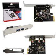 Placa PCI Express 2 USB 3.0 Porta 3.1 Type C DP-33C PC0050 - DEX