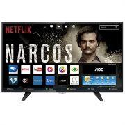 Smart TV LED 39 LE39S5970 HD com Wi-Fi 2 USB 3 HDMI TV Digital Controle com botão Netflix - AOC