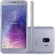 Smartphone Galaxy J4 SM-J400MZKKZTO, Quad Core, Android 8.0,Tela 5.5, 32GB, 13MP, Leitor Digital, Dual Chip, Prata - Samsung