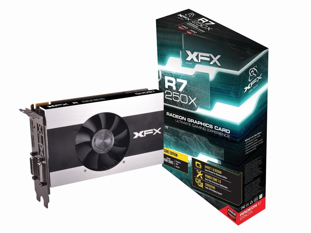 Placa de Vídeo Radeon R7 250X 2GB DDR5 R7-250X-CNJ4 - XFX