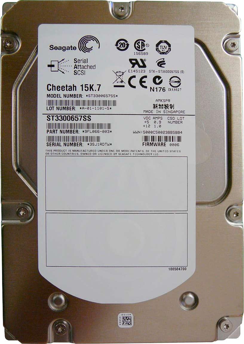 Hard Disk 300GB 16MB 15.000RPM SAS III Cheetah 15K.7 ST3300657SS - Seagate