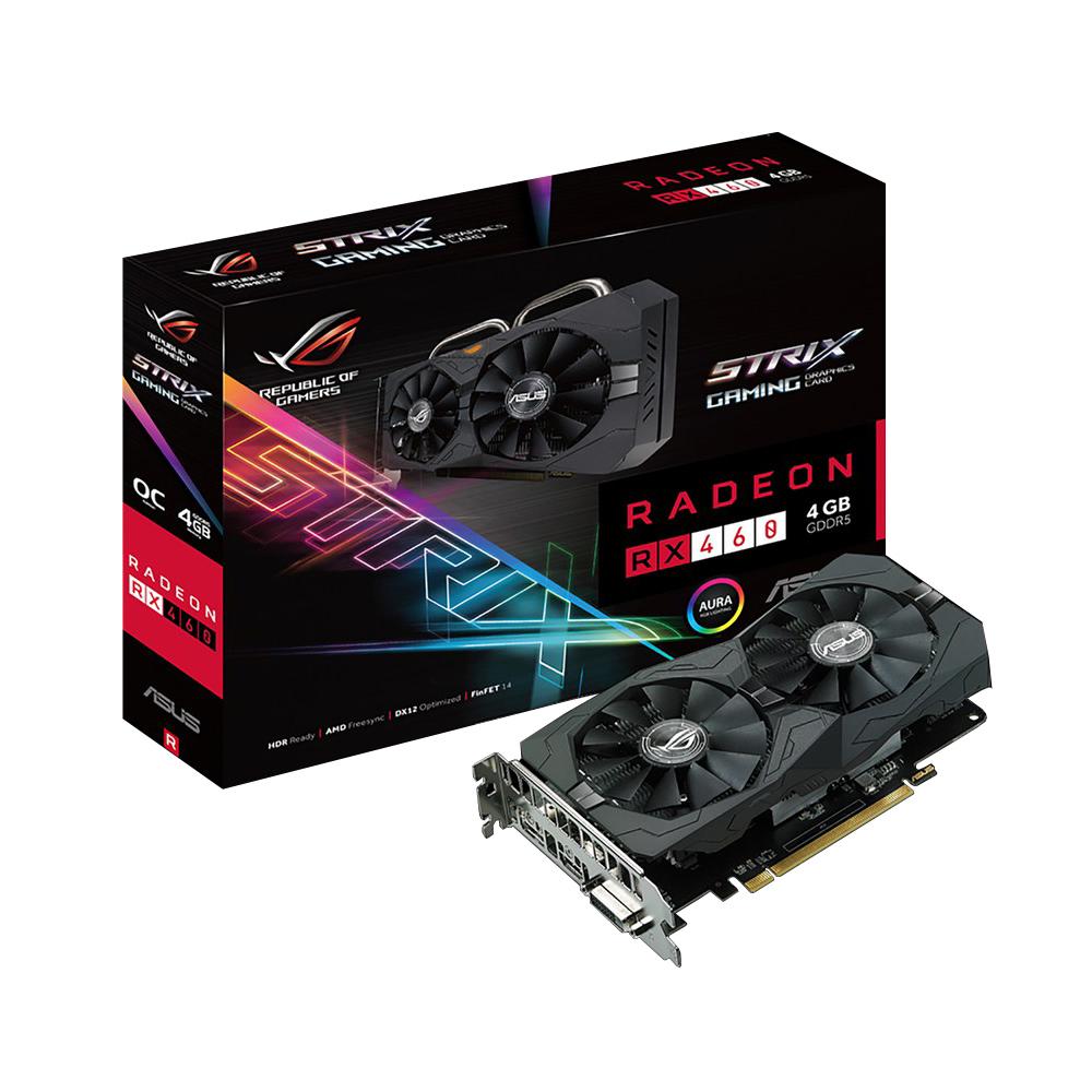 Placa de Vídeo Radeon RX 460 4GB Strix-RX460-04G-Gaming 90YV09L3-M0NA00 - Asus