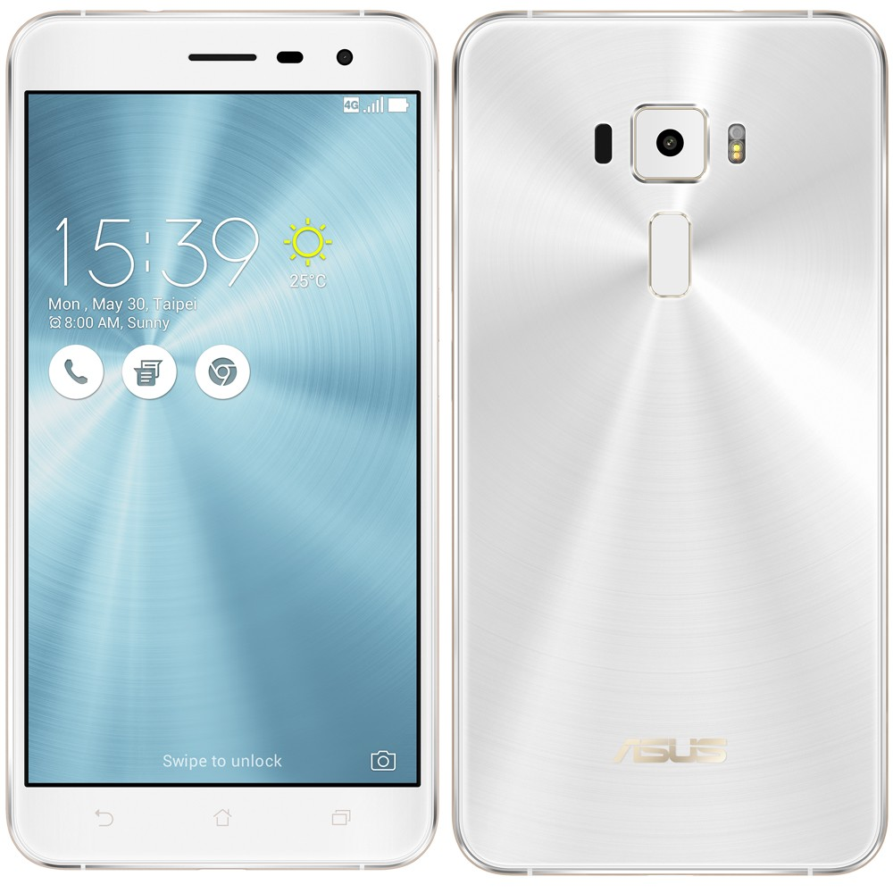 Smartphone Zenfone 3 ZE520KL-1B075BR Octa Core, Android 6, Tela 5.2, 32GB, 16MP, 4G, Dual Chip Branco - Asus