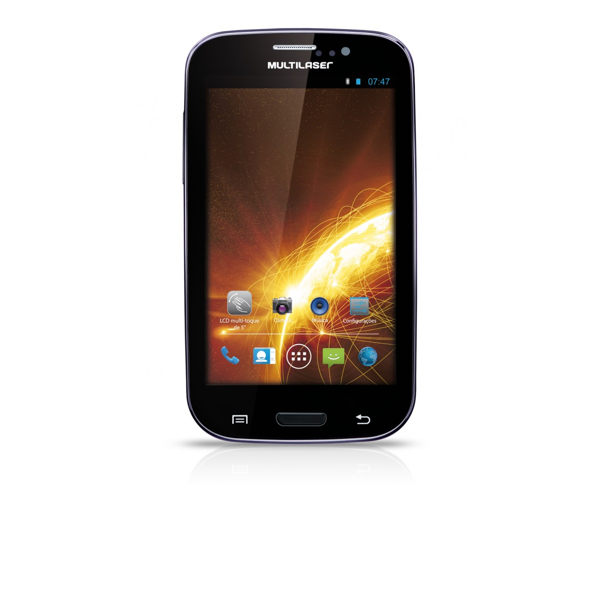 Smartphone M5 NB049 - Android 4.1, Processador Dual Core, Camera 5MP, Dual Chip, Wi-Fi, 3G, Preto