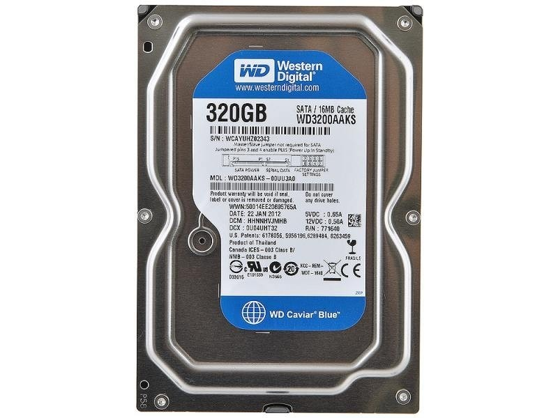 Hard Disk 320GB 7200RPM 16MB Sata II 3.5 WD3200AAKS - Western Digital