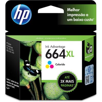 Cartucho 664XL Colorido F6V30AB - HP