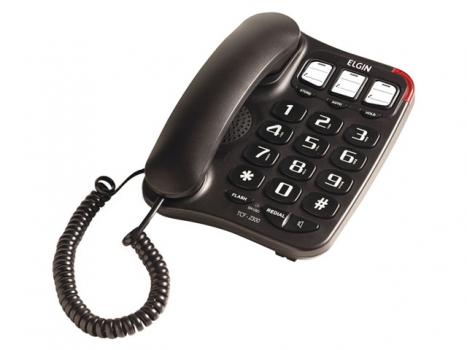 Telefone com Fio Chave Bloqueadora Viva-Voz - TCF2300 (42TCF2300000) - Elgin
