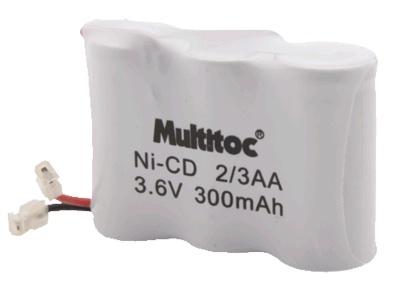 Bateria Ni-CD para Telefone Sem Fio 2/3AA 3.6V 300mAh - Multitoc