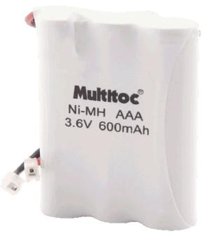 Bateria para Telefone Sem Fio Ni-MH AAA 3.6v 600mAh - Multitoc
