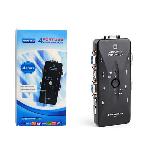 Switch KVM 4 Portas USB (KVM41UA) HUB0020 - OEM
