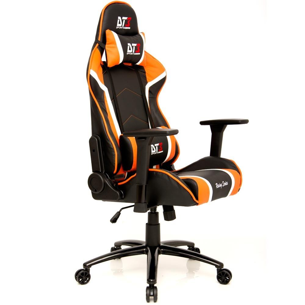 Cadeira Modena Black Orange 10503-9 - DT3 Sports
