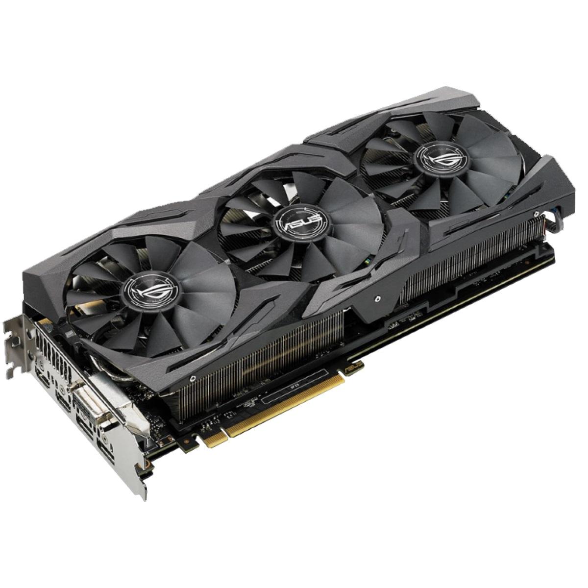 Placa de Vídeo Geforce ROG GTX 1080 Ti Strix 11GB OC ROG-STRIX-GTX1080TI-O11G-GAMING 11GB GDDR5X - Asus