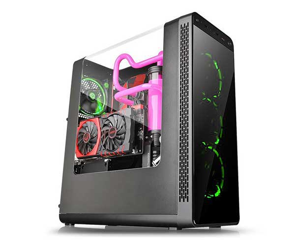 Gabinete View 27 Ring 12 Verde CA-1G7-00M1WN-GR Mid Tower - Thermaltake