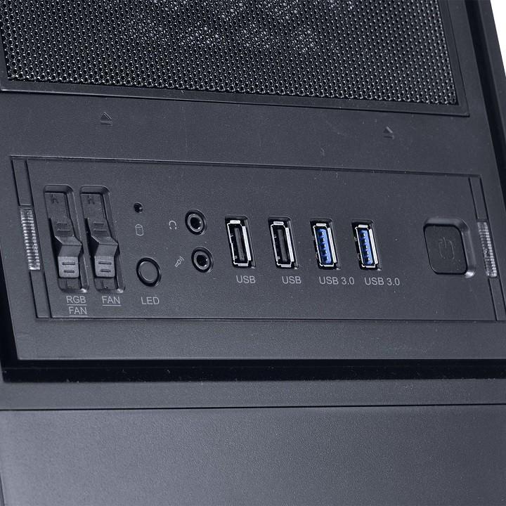 Gabinete ATX Midtower Bear Preto com 02 Fans LED Multicolors e Lateral em Acrílico BEARBCO3FCARL - Pcyes