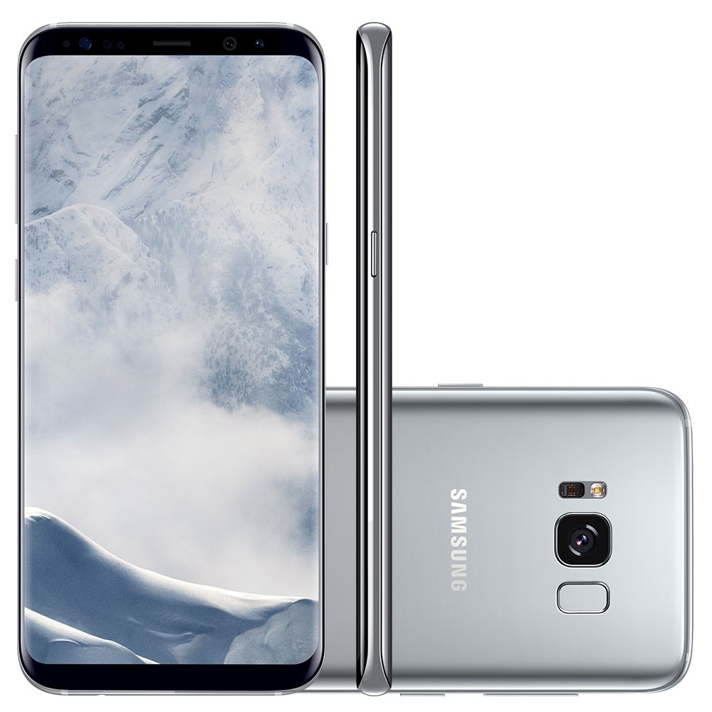 Smartphone Galaxy S8 G950FD, Octa Core 2.3Ghz, Android 7.0, Tela 5.8, 64GB, 4GB RAM,12MP Dual Pixel, 4G, Prata - Samsung