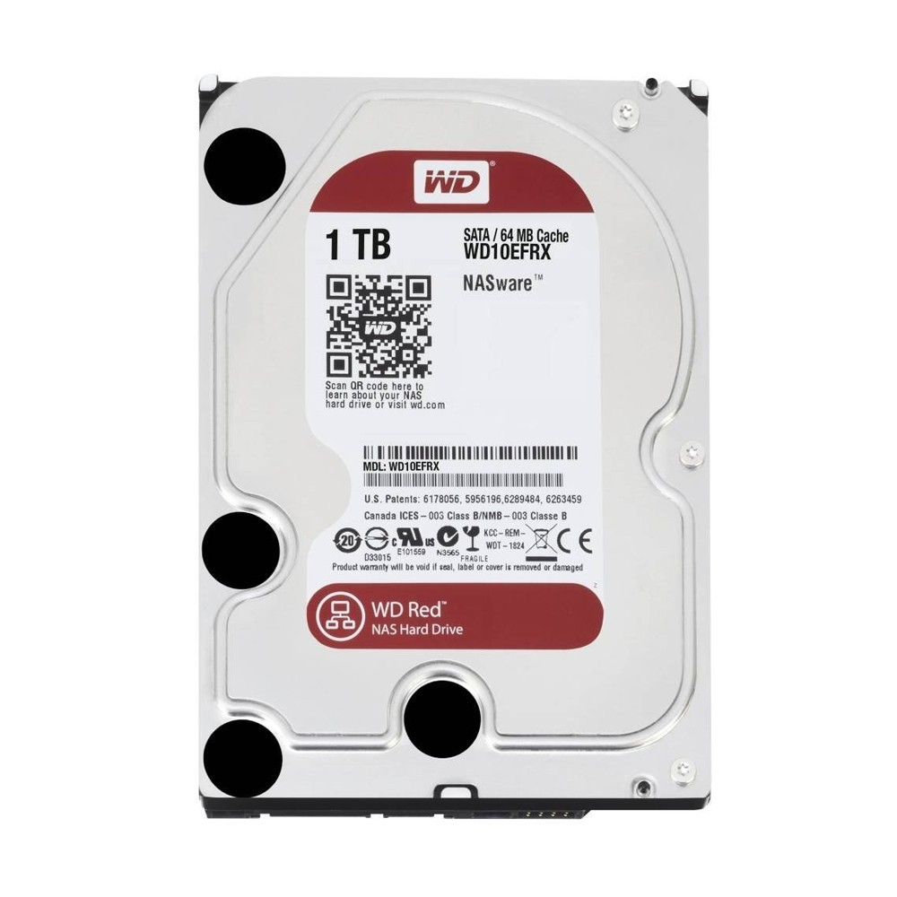 Hard Disk 1TB (Nas) Red Sata III 64MB WD10EFRX - Western Digital