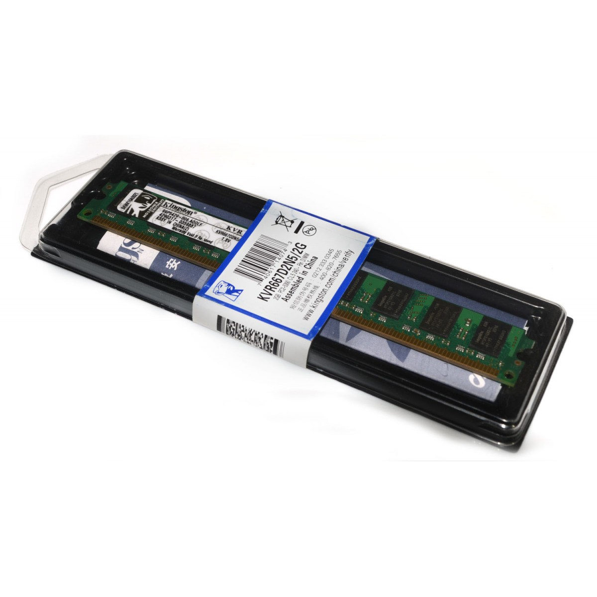 Memoria de 2GB DDR2 667Mhz KVR667D2N5/2GB - Kingston