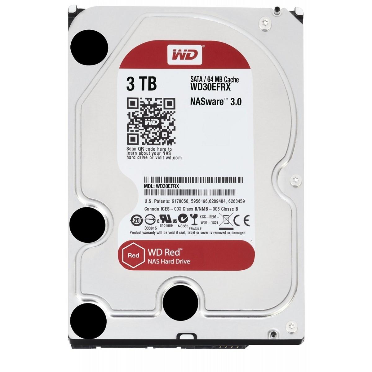 Hard Disk 3TB (Nas) Red Sata III 64MB WD30EFRX - Western Digital