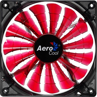 Cooler para Gabinete 140mm Shark Devil Red Editiion LED Vermelho EN55475 - Aerocool