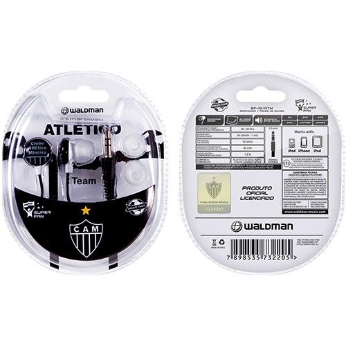 Fone de Ouvido Super Fan Atletico Mineiro - SF-10/ATM - Waldman