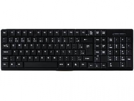 Teclado Padrao Preto PS2 TCPR03-PS2 - PC Top
