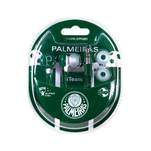 Fone de Ouvido Super Fan Palmeiras - SF-10/PAL - Waldman