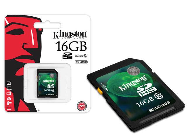 Cartao de Memoria 16GB SDHC Classe 10 Secure Digital SD10V/16GB - Kingston