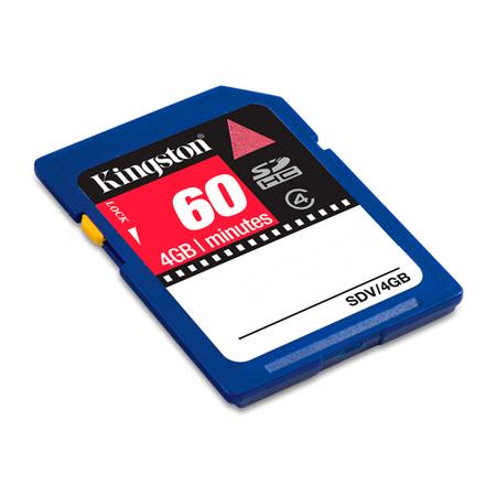 Cartao de Memoria 4GB SDHC Video Classe 4 SDV/4GB - Kingston