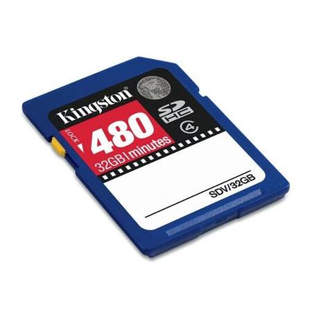 Cartao de Memoria 32GB SDHC Video Classe 4 SDV/32GB - Kingston