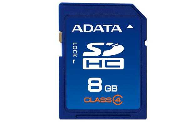 Cartao de Memoria 8GB SDHC Classe 4 ASDH8GCL4-R - Adata
