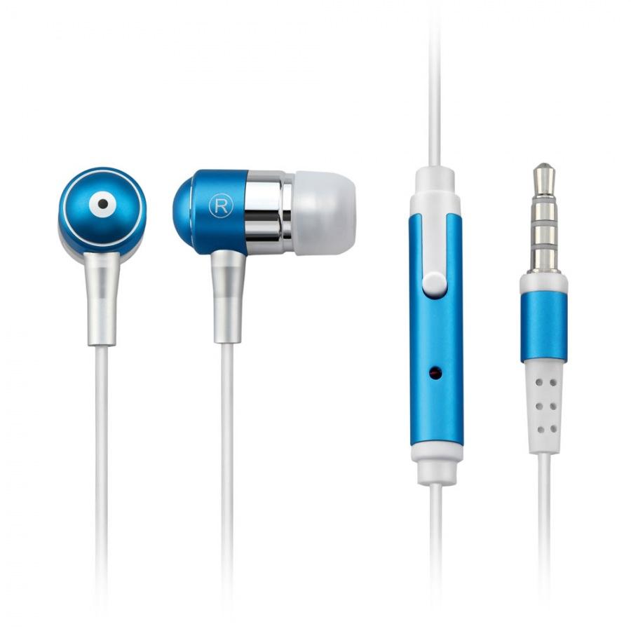 Fone Auricular Com Microfone Azul P2 PH060 (Compativel Com Iphone)