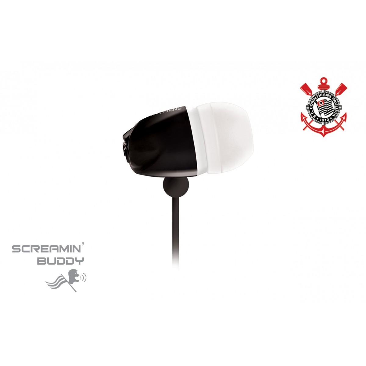 Fone de Ouvido Screamin Buddy Corinthians - SB-10/COR - Waldman