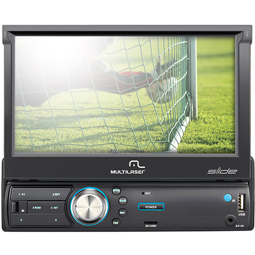 Som Automotivo MP5 Slide C/TV + BT LCD 7 Radio Alerta de Radares P3211 - Multilaser
