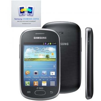 Celular Galaxy Star Trios S5283 Cinza com Trial Chip, Android 4.1, Camera 2MP, Wi-Fi, 3G e Bluetooth