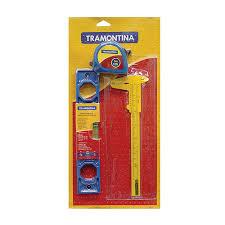 Kit de ferramentas - 3 pecas - trena - nivel plastico - paquimetro 43408/166 - Tramontina
