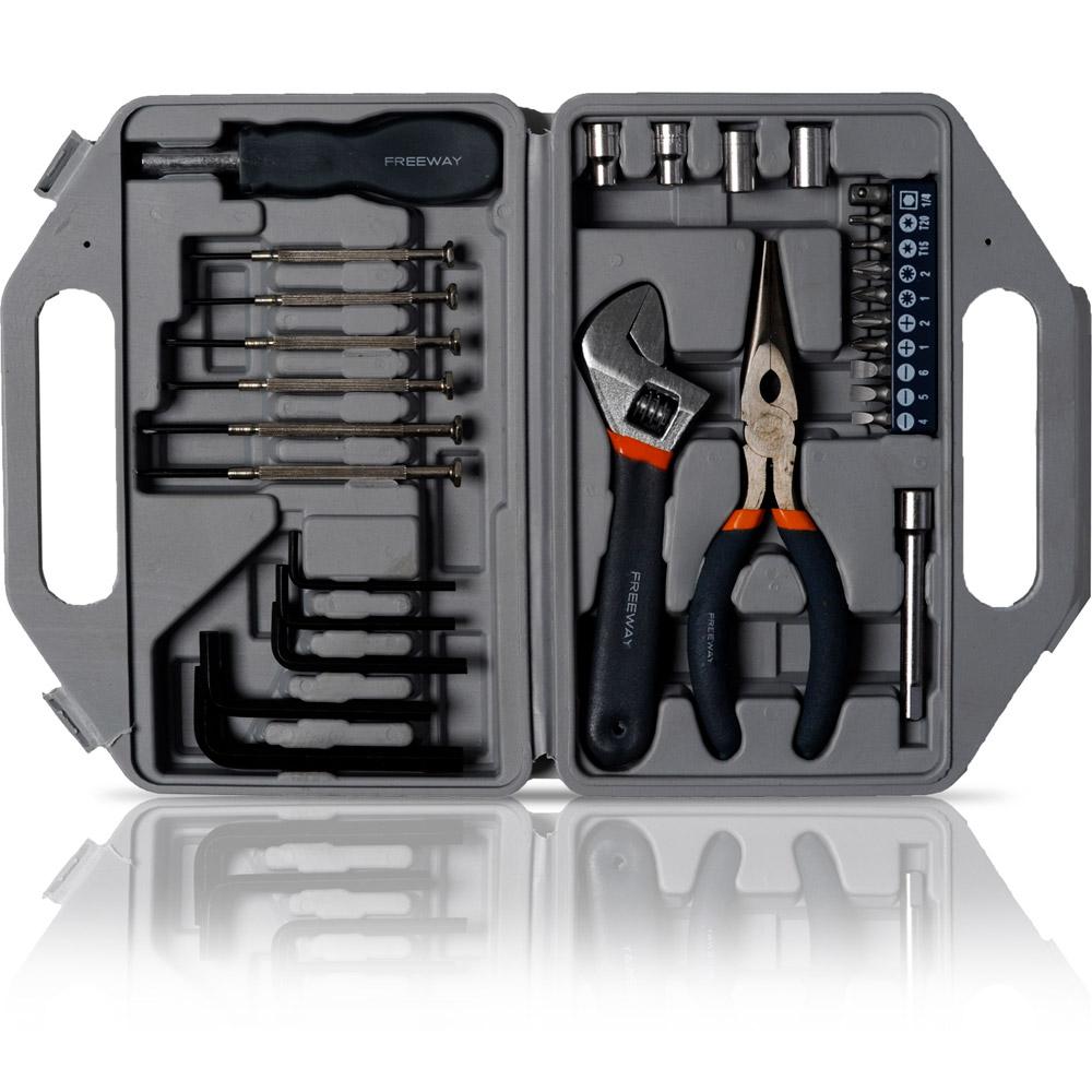 Kit de ferramentas manuais 30 pecas FKF 3001 - Freeway