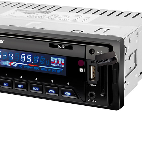 Radio Automotivo Talk Bluetooth, Rádio FM, Entradas USB, SD e AUX P3214 - Multilaser