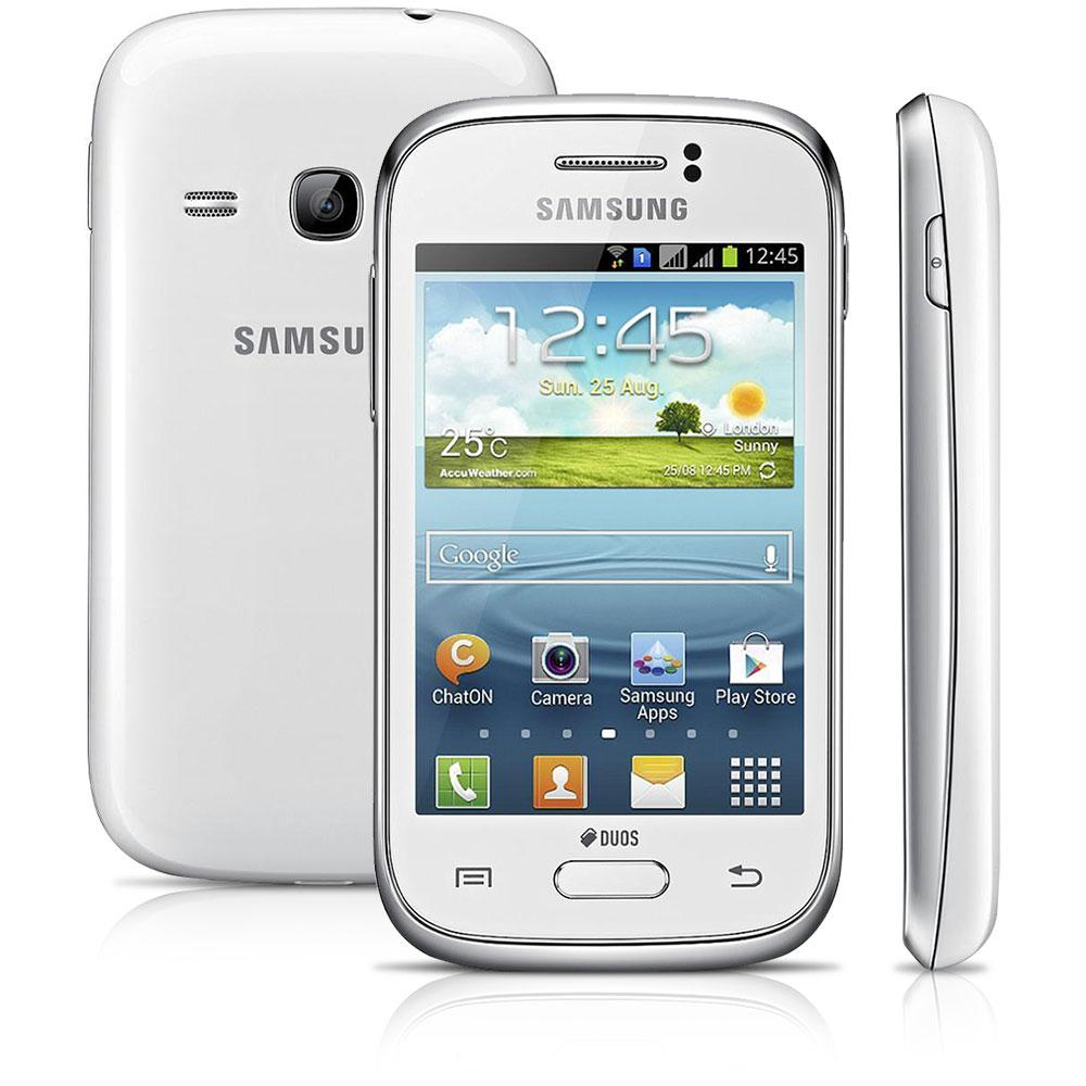 Smartphone Galaxy Young Duos TV GT-S6313T Android 4.1, Camera 3MP, 3G, Wi-Fi, Branco - Samsung
